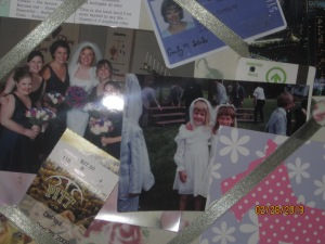 My college ID; my first communion; my best friend's wedding