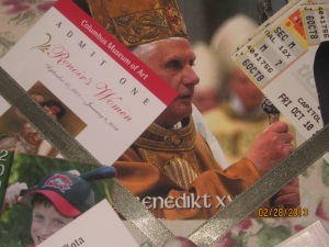 BXVI on a postcard from Germany