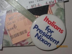 A campaign button