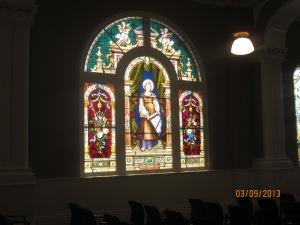 St. Cecilia window in the oratory