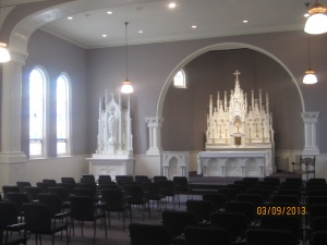 The oratory, where retreat conferences were held
