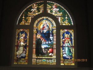 St. Dominic window in the oratory