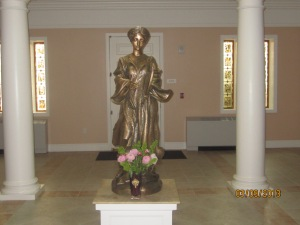 Statue of St. Cecilia at the Nashville Dominican Motherhouse.