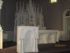 oratory altar and ambo