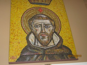 Mosaic of St. Dominic in the Heritage Room