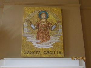 St. Cecilia mosaic, also in the Heritage Room
