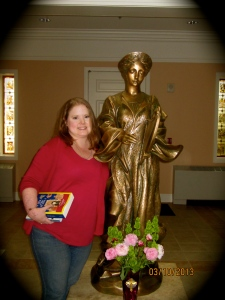 Me and St. Cecilia, before noon prayer