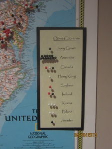 St. Cecilia sisters' locations overseas