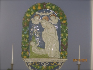 Art in the front left parlor, as you come in the convent's front door.