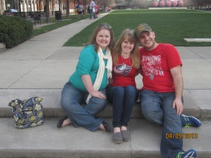 Me, Mel and Mike in the park near Nationwide Arena