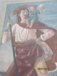 """St. Christopher Carries the Infant Christ"""