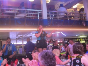The singing waitstaff, doing a Whitney Houston number.