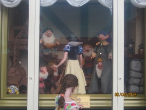 Snow White window on Main Street USA