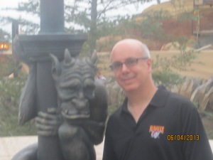 Dad and the gargoyle