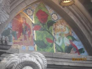 Mosaic inside the castle