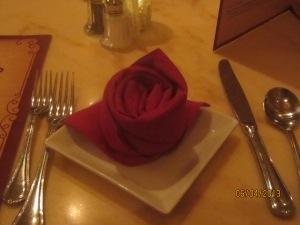 rose napkins