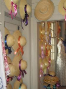Hats in the millinery shop