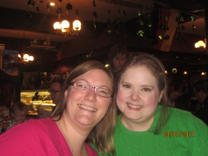 me and Tiffany at Schmidt's a German restaurant in Columbus, celebrating birthdays.
