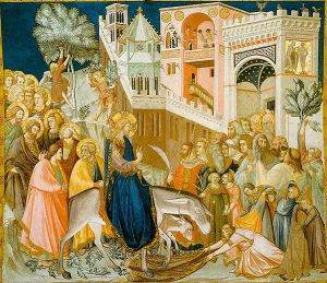 """Entry of Christ into Jerusalem,"" Pietro Lorenzetti"
