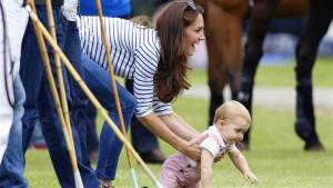 Duchess Catherine and Prince George.