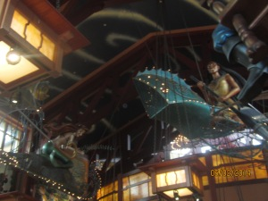 Ceiling of the World of Disney store