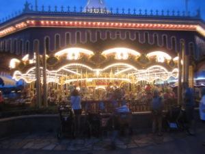 Prince Charming's Regal Carousel at night