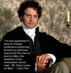 Mr Darcy on Mars