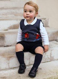 Prince George. LOOK at those cheeks!