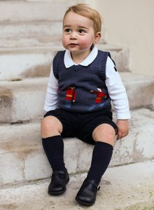 Prince George. LOOK at those cheeks!