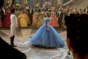 Kit (Richard Madden) and Ella (Lily James) meet at the ball.