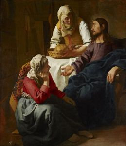 Vermeer Christ with Martha and Mary
