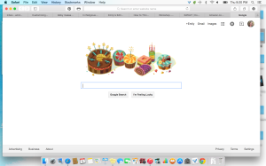 The Google Doodle you get for your Birthday. I mean how awesome is this, people.